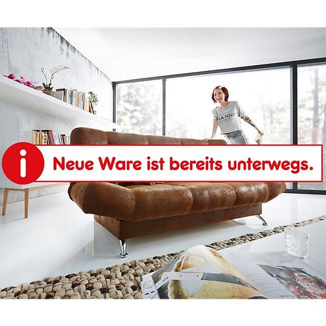 Bettsofa Viol Braun 190x90 cm mit Bettkasten Schlaffunktion Schlafsofa - Bild 1