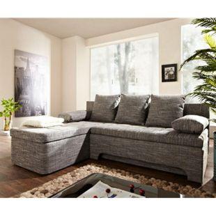 Couch Juline Grau 200x155 mit Schlaffunktion Ottomane variabel Ecksofa - Bild 1
