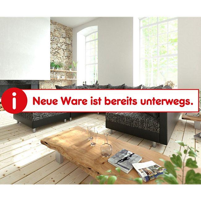 Couch Clovis Schwarz mit Hocker Wohnlandschaft Modulsofa - Bild 1