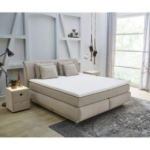 Polsterbett Caorle Beige 180x200 Matratze Topper Bettkasten - Bild 1