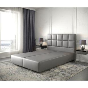 Boxspringgestell Dream-Fine Kunstleder Grau 140x200 - Bild 1