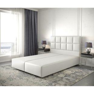 Boxspringgestell Dream-Fine Kunstleder Weiß 140x200 - Bild 1