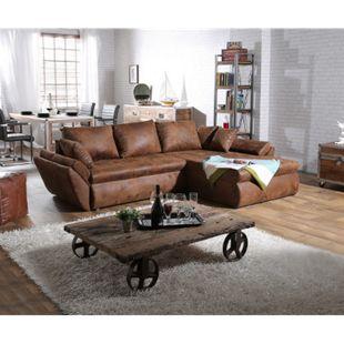 Couch Loana Braun 275x185 cm Ecksofa Schlaffunktion Ottomane variabel - Bild 1