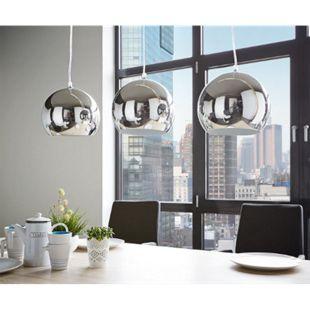 Hängeleuchte Pentola Chrom Silberfarben 75 cm 3 Schirme Deckenlampe - Bild 1