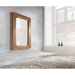 Spiegel Live-Edge Akazie Natur 135x85 cm massiv Baumkante Wandspiegel - Bild 1