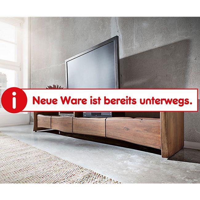 Fernsehtisch Live-Edge Akazie Braun 230 cm 4 Schubkästen Baumkante Lowboard - Bild 1