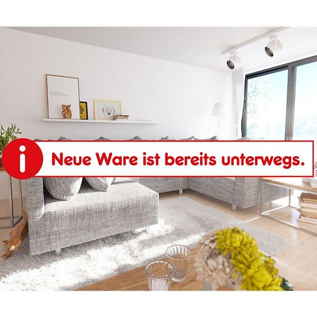 Couch Clovis Hellgrau Strukturstoff mit Armlehne Wohnlandschaft modular - Bild 1