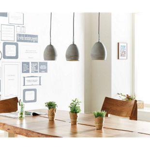 Deckenleuchte Cirillo Grau 70x15 cm 3 Schirme Beton Hängeleuchte - Bild 1