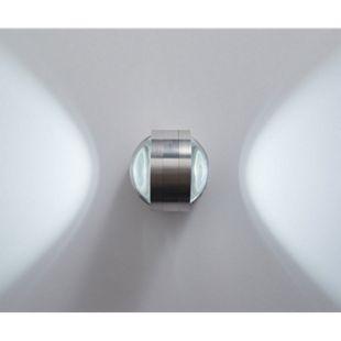 Wandleuchte Zid Aluminium Gebürstet Silber 2 Watt LED Wandleuchte - Bild 1