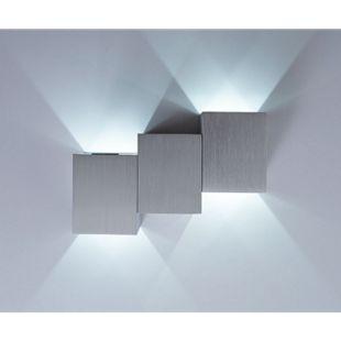 Wandleuchte Miray Aluminium Gebürstet Silber 2 Watt LED Wandlampe - Bild 1