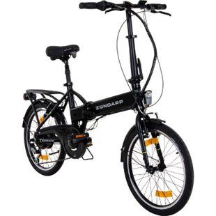 Zündapp Z101 20 Zoll Faltrad E-Bike Klapprad Pedelec StVZO Elektrofaltrad 6... schwarz