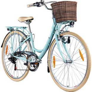 Galano Valencia 700c Damenfahrrad Hollandrad 28 Zoll 6 Gang Citybike Stadt Fahrrad... 16 Zoll, hellblau - Bild 1