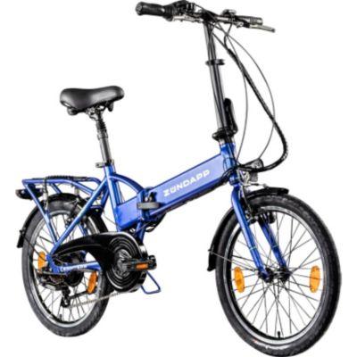 Zündapp Z101 20 Zoll Faltrad E-Bike Klapprad Pedelec StVZO Elektrofaltrad 6... blau