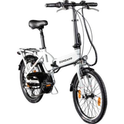 Zündapp Z101 20 Zoll Faltrad E-Bike Klapprad Pedelec StVZO Elektrofaltrad 6... weiß
