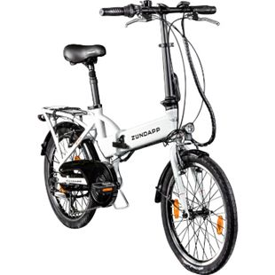 Zündapp Z101 20 Zoll E Klapprad E-Bike Pedelec StVZO Elektrofaltrad 6 Gänge Faltrad... weiß - Bild 1
