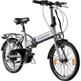 Zündapp Z101 20 Zoll Faltrad E-Bike Klapprad Pedelec StVZO Elektrofaltrad 6... silber