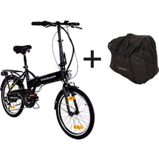 Zündapp Z101 20 Zoll E-Klapprad mit Tasche E-Bike Faltrad Pedelec... schwarz