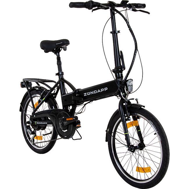 Zündapp Green 1.0 20 Zoll E-Klapprad E Folding Bike Citybike Faltrad Elektrofahrrad Pedelec... schwarz - Bild 1