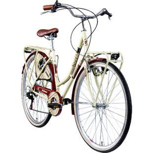 Galano Caledonia 700c Hollandrad Damenfahrrad Citybike 28 Zoll Trekkingbike Fahrrad... 48 cm, creme/rot - Bild 1