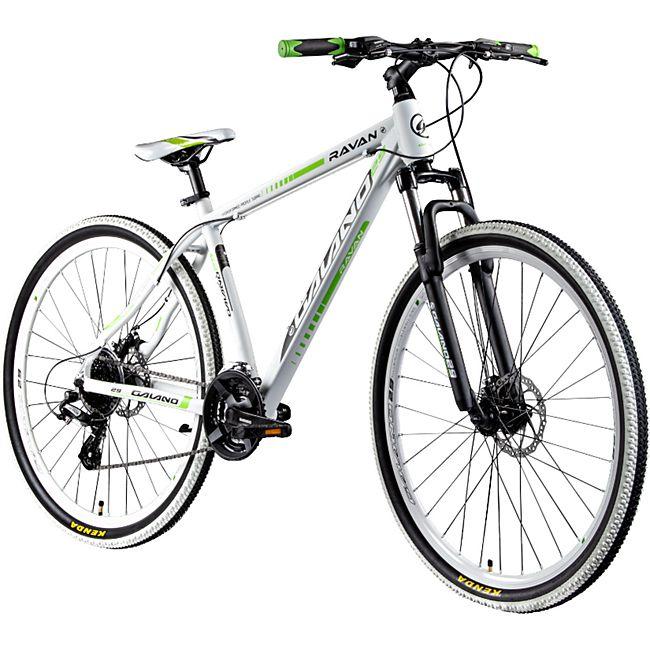 Galano Ravan 29 Zoll Mountainbike MTB Hardtail Fahrrad 24 Gänge Bike 3 Farben... 48 cm, weiß/grün - Bild 1