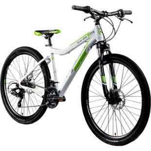 Galano GX-27,5 650B Mountainbike Hardtail MTB Fahrrad 27,5 Zoll Bike 21 Gang... weiß/grün, 45 cm - Bild 1