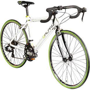 Galano Vuelta STI 26 Zoll Rennrad Jugendfahrrad 14 Gang Jugendrad Fahrrad... weiß/grün, 44 cm - Bild 1