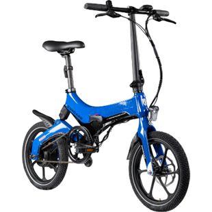 Zündapp Z201 16 Zoll Klapprad E-Bike Pedelec Faltrad Elektrofaltrad Elektrofahrrad StVZO... blau - Bild 1