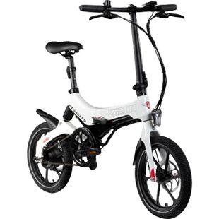 Zündapp Z201 16 Zoll Klapprad E-Bike Pedelec Faltrad Elektrofaltrad Elektrofahrrad StVZO... schwarz/weiß - Bild 1