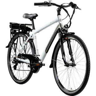 Zündapp Z802 700c E-Trekkingrad Herren E-Bike 28 Zoll Elektrofahrrad Pedelec 21 Gänge... 48 cm, weiß/grau - Bild 1