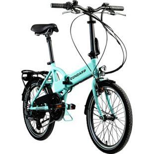 Zündapp Z101 20 Zoll E Klapprad E-Bike Pedelec StVZO Elektrofaltrad 6 Gänge Faltrad... hellgrün - Bild 1