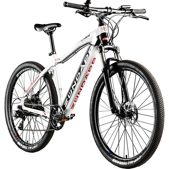 Zündapp Z801 650B E-Bike E Mountainbike 27,5 Zoll Hardtail Pedelec Elektrofahrrad Fahrrad... 48 cm, schwarz/weiß - Bild 1