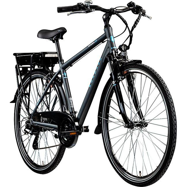 Zündapp Green 7.7 E-Bike 700c Trekkingrad Herren 28 Zoll Pedelec Tourenrad Trekking... 48 cm, grau/blau - Bild 1
