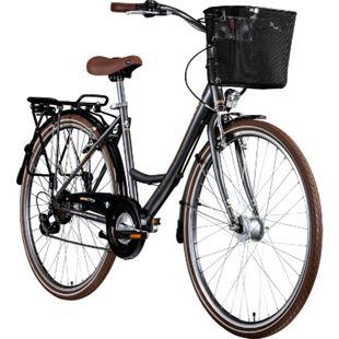 Zündapp Z700 700c Damenfahrrad Hollandrad Damenrad Fahrrad Stadtrad 28 Zoll... 46 cm, grau/braun/silber - Bild 1