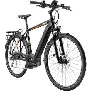 Breezer Powertrip Evo 1.5+ 700c E-Bike Trekkingrad Pedelec E Trekking Bike 28 Zoll Tourenrad... 55 cm, schwarz/messing - Bild 1