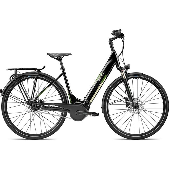 Breezer Powertrip Evo IG 1.3+ LS 700c E-Bike Damenrad 28 Zoll Pedelec Damen Senioren Elektrofahrrad... 50 cm, schwarz/creme - Bild 1