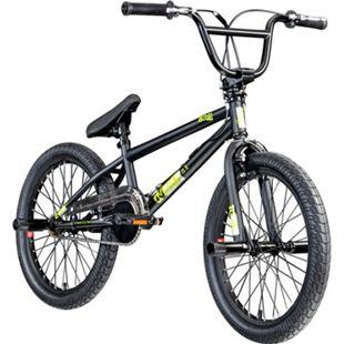 deTox Rude 20 Zoll BMX Freestyle Street Park Einsteiger Anfänger ab 140 cm Fahrrad... schwarz/grün - Bild 1