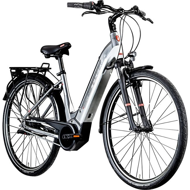 Zündapp Z905 700c E-Bike E Citybike 28 Zoll Pedelec Bosch Stadtrad Hollandrad... 45 cm, grau/weiß - Bild 1