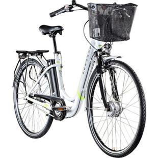 Zündapp Z517 700c E-Bike E Cityrad Damenrad Pedelec Elektrofahrrad Damen Fahrrad 28 Zoll... 48 cm, weiß/grün - Bild 1