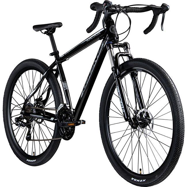 "Galano Road Cross 29 Zoll Crossbike Rennrad 29"" Crossrad Fahrrad Fitnessbike Damen Herren... 48 cm, schwarz/grau - Bild 1"