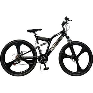"Galano FS260 26 Zoll Mountainbike Fully MTB Fahrrad 26"" Full Suspension Mountain Bike... schwarz, 47 cm - Bild 1"