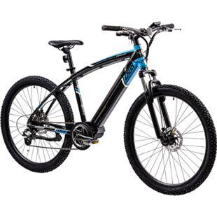 Zündapp Z808 650B E-Mountainbike E-Bike EMTB Hardtail 27,5 Zoll Pedelec Fahrrad Elektrofahrrad... 48 cm, schwarz/blau - Bild 1
