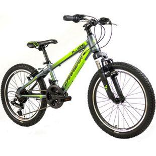 """Carrera M2 1000 20 Zoll Kinderfahrrad Mountainbike Kinder Fahrrad 20"""" ab 6... grau/grün, 25 cm - Bild 1"""