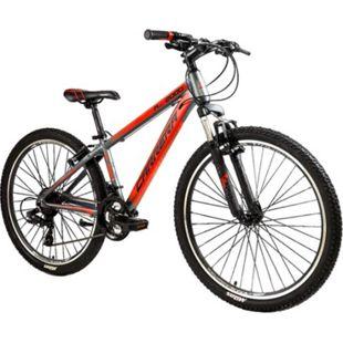 "Carrera M6 2000 26 Zoll Mountainbike Hardtail MTB Fahrrad 26"" Shimano Mountain Bike... grau/rot, 36 cm - Bild 1"