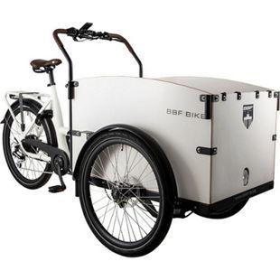 "BBF Seattle ECO Lastenfahrrad E-Bike Cargo Bike 26/24 Zoll 7 Gang Lastenrad E-Cargo Fahrrad 26/24""... weiß, 53 cm - Bild 1"