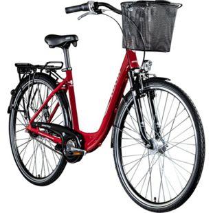 Zündapp Z700 700c Damenfahrrad Hollandrad Damenrad Fahrrad Stadtrad 28 Zoll... rot, 46 cm - Bild 1