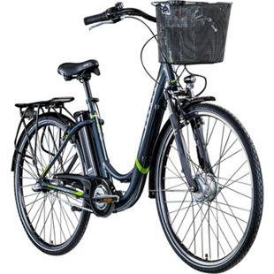 Zündapp Z510 700c E-Bike E Cityrad Damenrad Pedelec Elektrofahrrad Damen Fahrrad 28 Zoll... 48 cm, grau/grün - Bild 1