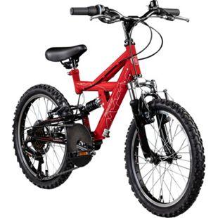 Galano FS180 18 Zoll Mountainbike Full Suspension Kinderfahrrad Fully MTB Kinder ab 5 Jahre Fahrrad... rot, 28 cm - Bild 1