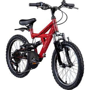 Galano FS180 20 Zoll Mountainbike Full Suspension Kinderfahrrad Fully MTB Kinder ab 6 Jahre Fahrrad... rot, 31 cm - Bild 1