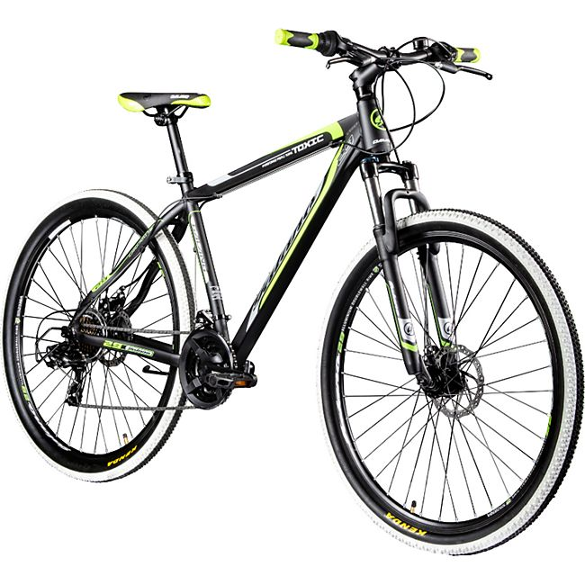 Galano Toxic 29 Zoll Mountainbike Hardtail MTB Fahrrad Scheibenbremsen Shimano Tourney... schwarz/grün - Bild 1
