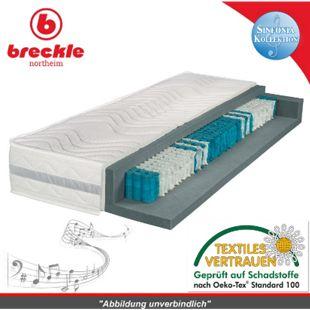 Breckle Sinfonia 1000 XXL TFK Taschenfederkernmatratze... H2, 90x190 cm (Sondergröße) - Bild 1